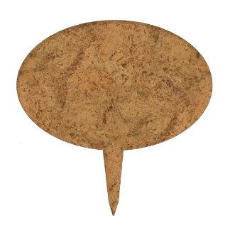Natural Smoke Cork Bark Wood Grain Look Cake Topper
