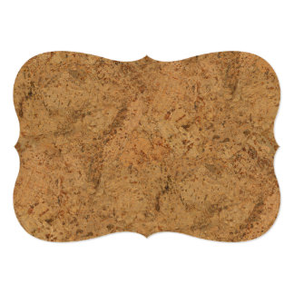 Natural Smoke Cork Bark Wood Grain Look Card