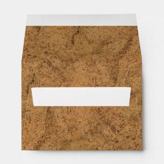 Natural Smoke Cork Bark Wood Grain Look Envelope