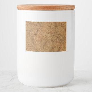 Natural Smoke Cork Bark Wood Grain Look Food Label