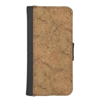Natural Smoke Cork Bark Wood Grain Look iPhone SE/5/5s Wallet Case