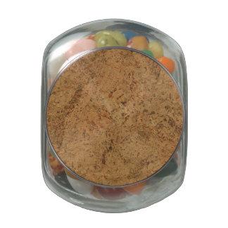 Natural Smoke Cork Bark Wood Grain Look Jelly Belly Candy Jar