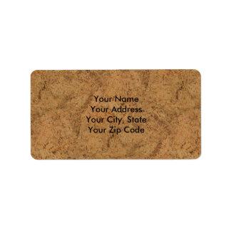 Hardwood shipping address return address labels zazzle for Cork flooring wood grain look
