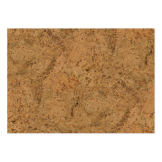 Natural Smoke Cork Bark Wood Grain Look Large Business Card