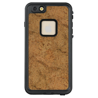 Natural Smoke Cork Bark Wood Grain Look LifeProof® FRĒ® iPhone 6/6s Plus Case
