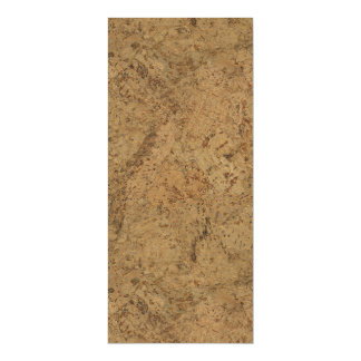 Natural Smoke Cork Bark Wood Grain Look Magnetic Card