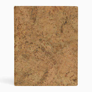 Natural Smoke Cork Bark Wood Grain Look Mini Binder