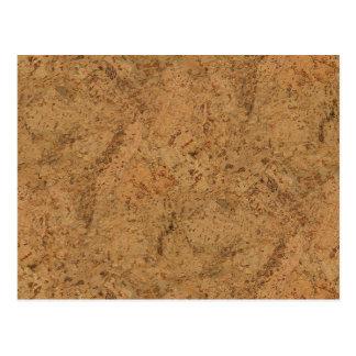 Natural Smoke Cork Bark Wood Grain Look Postcard