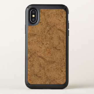 Natural Smoke Cork Bark Wood Grain Look Speck iPhone X Case