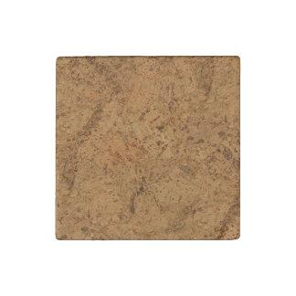 Natural Smoke Cork Bark Wood Grain Look Stone Magnet