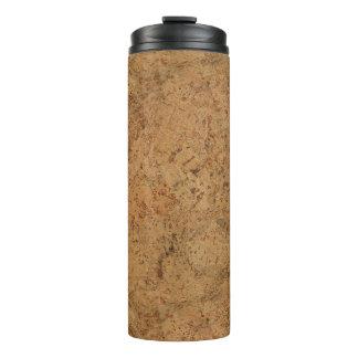 Natural Smoke Cork Bark Wood Grain Look Thermal Tumbler
