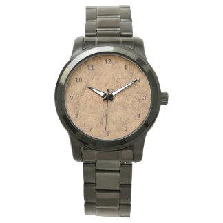 Natural Smoke Cork Bark Wood Grain Look Wrist Watch
