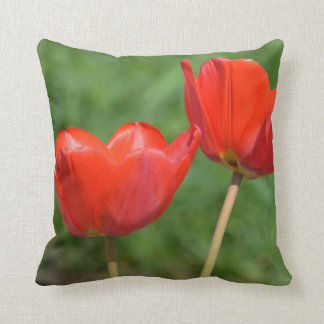 Natural Spring Tulip Floral Throw Pillow
