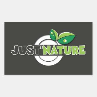 Natural Sticker logotype just'