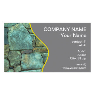 Natural stone exterior wall business card templates