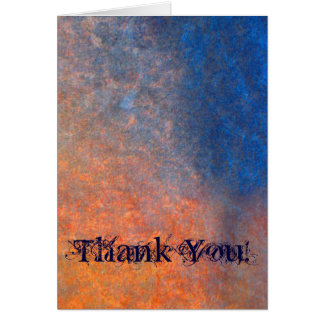 NATURAL STONE Rock Surface Rustic Thank You Card