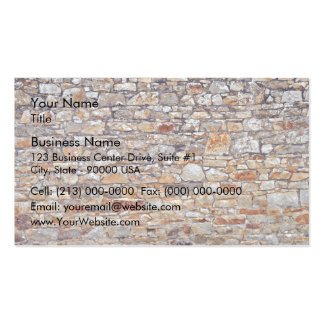 Natural Stone Wall Background Business Cards