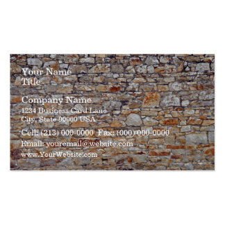Natural Stone Wall Background Business Card