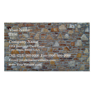 Natural Stone Wall Close-Up Business Card Template