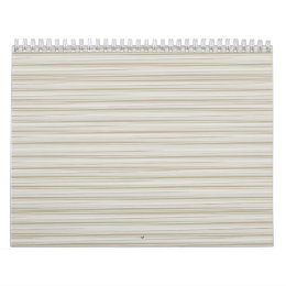 Natural stripes calendar