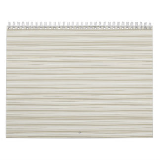 Natural stripes calendar
