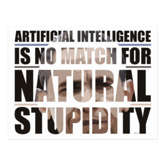 Natural Stupidity Postcard