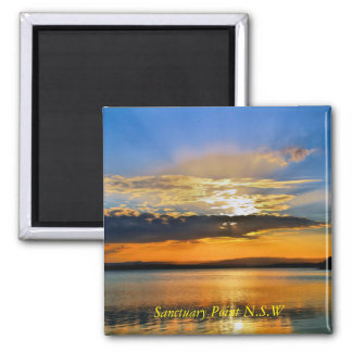 Natural Sunset 2 Inch Square Magnet