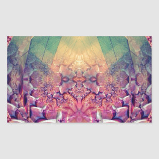 Natural Synthesis - Ecstatic Geometry Rectangular Sticker