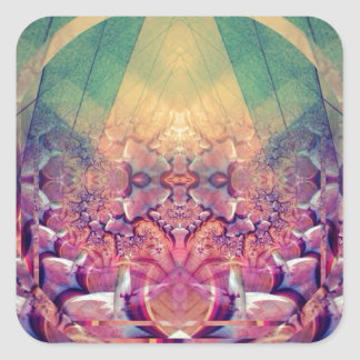 Natural Synthesis - Ecstatic Geometry Square Sticker