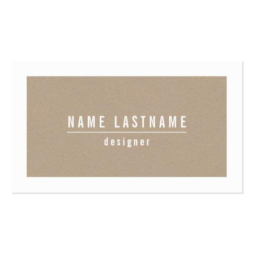Natural Tan Cardboard Paper Look Business Card
