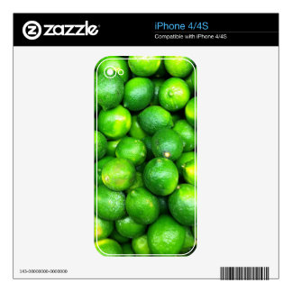 Natural Textures - Limes Skin For iPhone 4S
