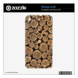 Natural Textures - Logged Wood Decal For The iPhone 4S