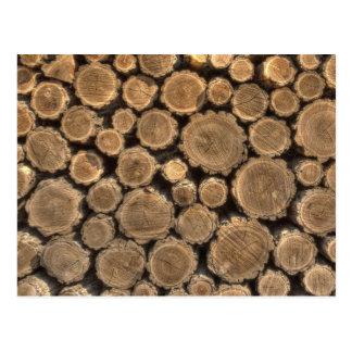 Natural Textures - Logged Wood Postcard