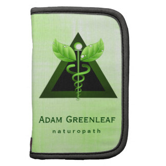 Natural Therapy Green Caduceus Folio Planner Folio Planners