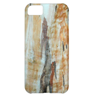 Natural tree bark colorful orange and gray picture case for iPhone 5C