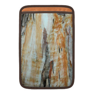 Natural tree bark colorful orange and gray picture MacBook air sleeve
