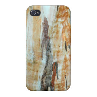 Natural tree bark colorful orange and gray picture iPhone 4 covers