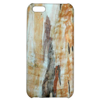 Natural tree bark colorful orange and gray picture iPhone 5C covers