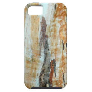 Natural tree bark colorful orange and gray picture iPhone SE/5/5s case