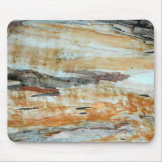 Natural tree bark colorful orange and gray picture mouse pad