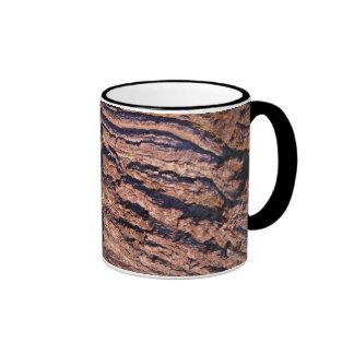 Natural Tree bark texture Ringer Coffee Mug