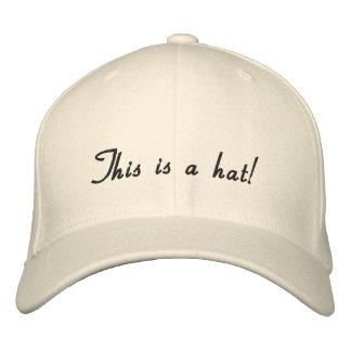 Natural uni-colored Design Embroidered Baseball Hat