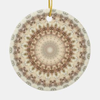 Natural Vintage mandala kaleidoscope Ceramic Ornament