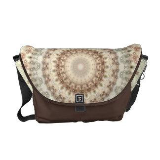 Natural Vintage mandala kaleidoscope Messenger Bag