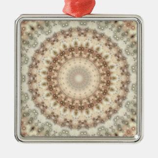Natural Vintage mandala kaleidoscope Metal Ornament
