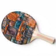 natural wall colorful stones ping pong paddle