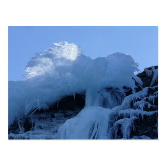 Natural Waterfall Ice Formation on Bunker Hill Postcard
