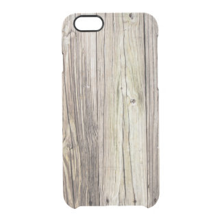 Natural Weathered Wood Boards from Old Dock Clear iPhone 6/6S Case