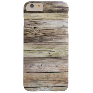 Natural Weathered Wood from a Rustic Country Dock Barely There iPhone 6 Plus Case