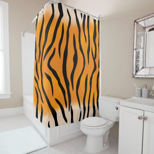 Natural Wild Tiger Stripes Shower Curtain